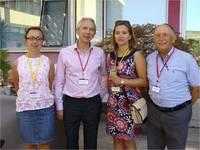Na zdjęciu: od lewej dr Aleksandra Dyś, prof. Ivan Gout (University College London, Organizator Konferencji), dr Joanna Klimaszewska-Łata, prof. Andrzej Szutowicz