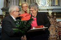 Zdjęcie z otrzymania Medalu św. Wojciecha przez prof. Grażynę Świątecką, 28.10.2019 fot. Grzegorz Mehring