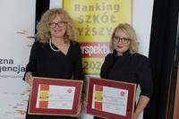 prorektor ds. klinicznych prof. Edyta Szurowska i rzecznik prasowa dr Joanna Śliwińska