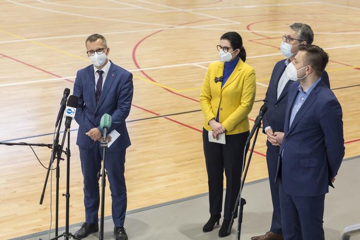Konferencja prasowa w Centrum Sportu GUMed; fot. Sylwia Mierzewska/UCK